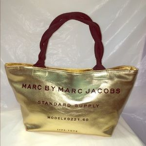 Marc Jacobs Gold Leather Tote
